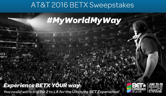 AT&T wants you to enter daily for your chance to win a trip to LA in California, worth more than $6500 and complete with flights, hotel and tickets to attend a bunch of the BET Awards events!