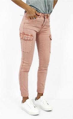 Pantalon rose avec poches