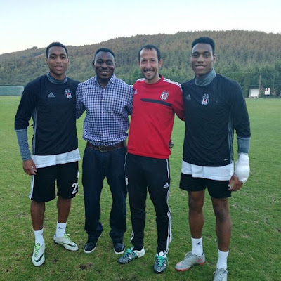 Image result for Daniel Amokachi Pictured With His Footballer Twin Sons In Turkey (SEE PHOTO)