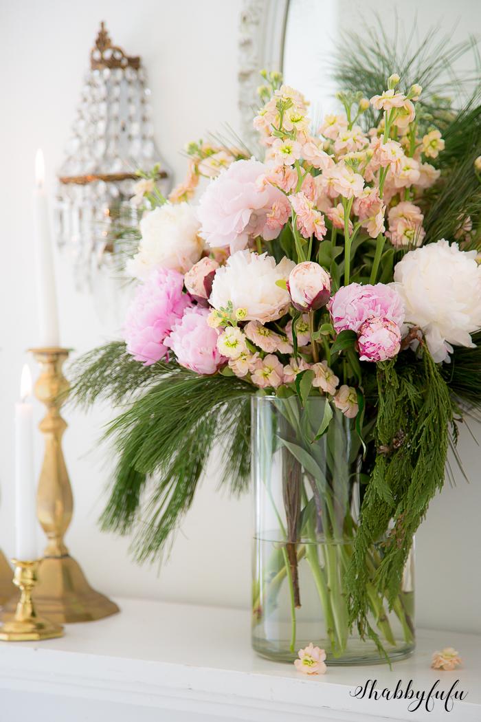 peonies in flower arranging