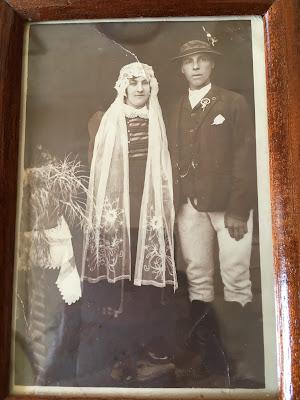 Nagyszüleim Petrás Ferenc és Zsombori Lídia esküvője 1929-ben
