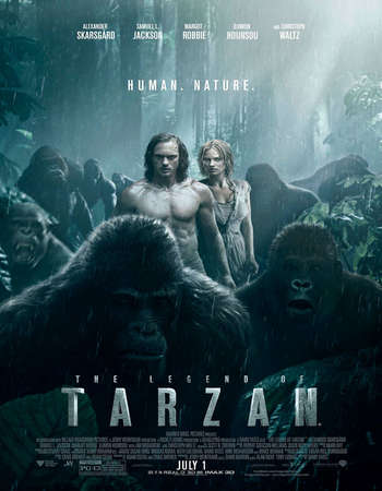 Poster Of The Legend of Tarzan 2016 Dual Audio 130MB HC HDRip HEVC Mobile ESubs Free Download Watch Online Worldfree4u