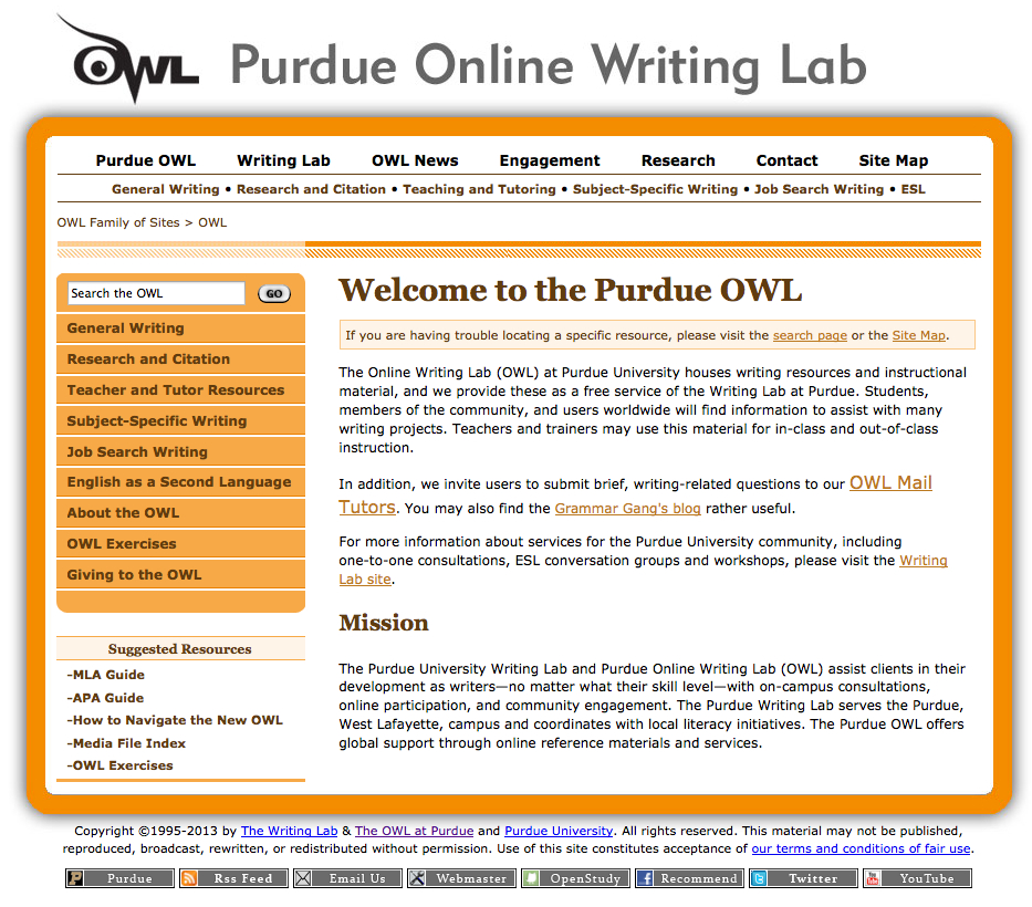 Owl Purdue Cover Letter Reference List