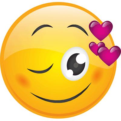 Cute emoji wink