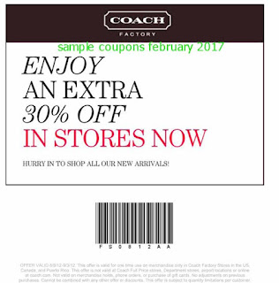 Coach coupons for february 2017