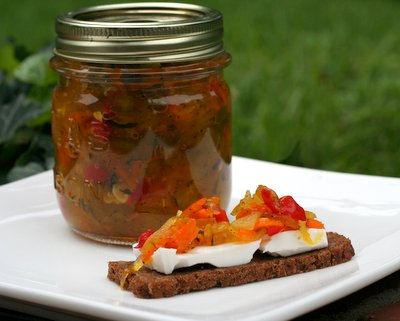 Homemade Zucchini Relish ♥ AVeggieVenture.com, a perfect way to use up giant zucchini from the garden.