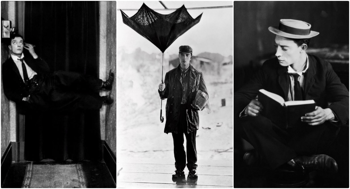 a review of sherlock jr a film by buster keaton Sherlock jr (1924) starring: buster keaton, kathryn mcguire, joe keaton, ward cranedirected by buster keatonproduced by joseph m schenckwilliam thomas.
