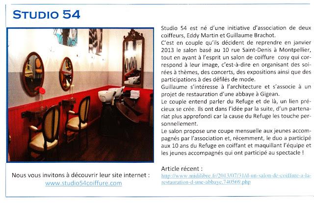 Article du journal B-info.refuge du mois d'août 2013.