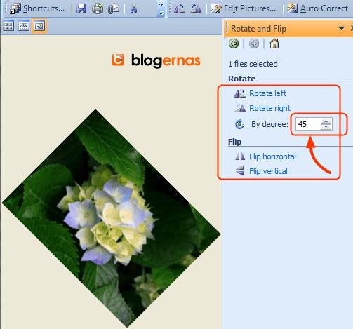Cara Memiringkan Gambar pada Office Picture