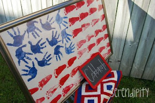 Handprint & Footprint Flag