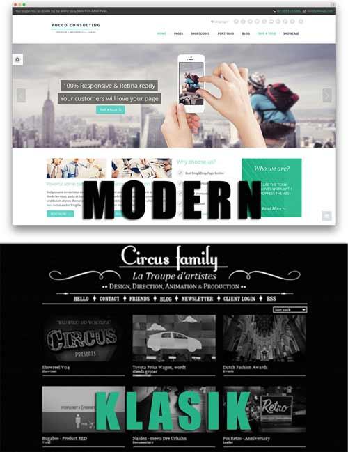 perbedaan desain web klasik dan modern