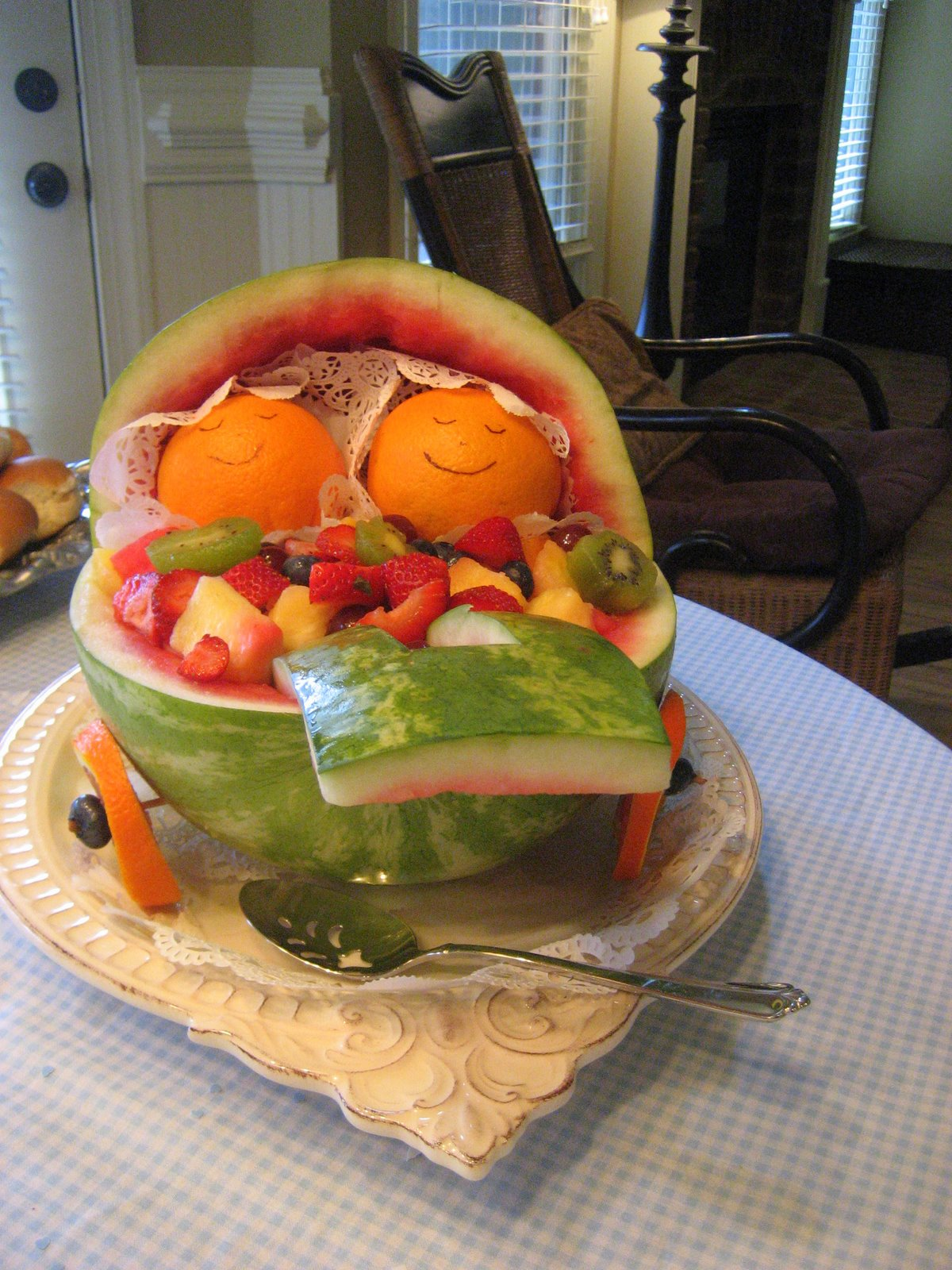 Waters Party Of Five: Twin Oranges In A Watermelon Baby