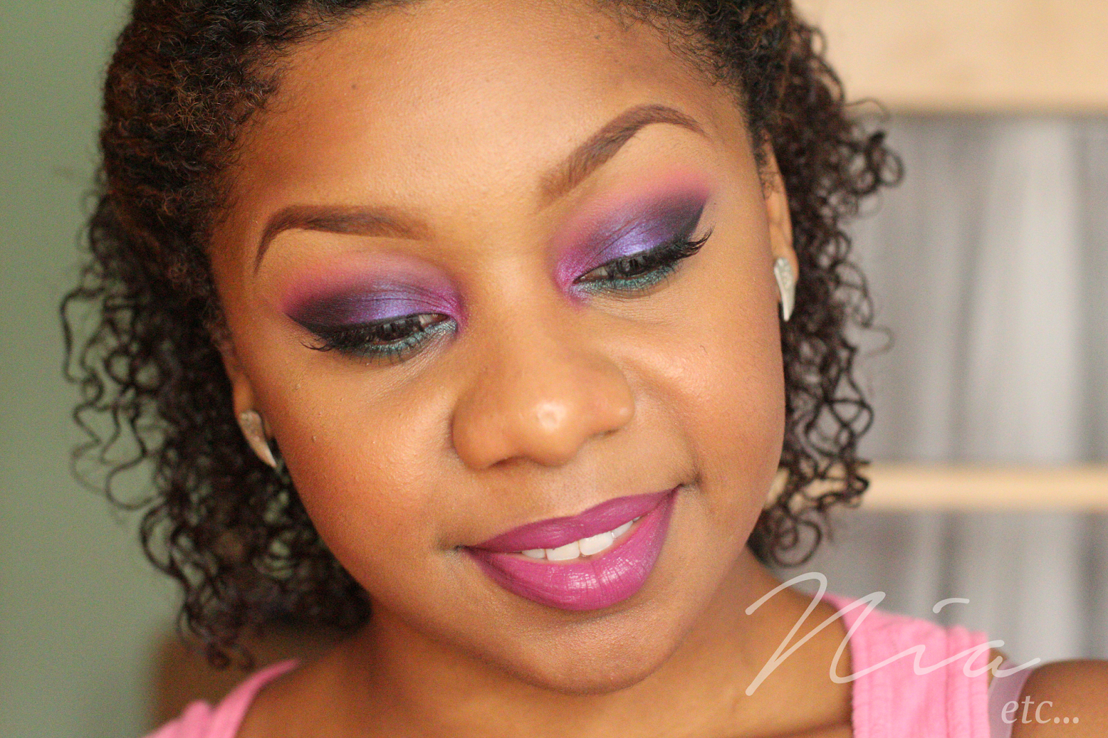 Jewel Toned Pink and Purple MakeUp Look 11