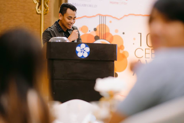 Best Cebu Blogs Award Founder and Head, Mark Monta during his Welcome Remarks