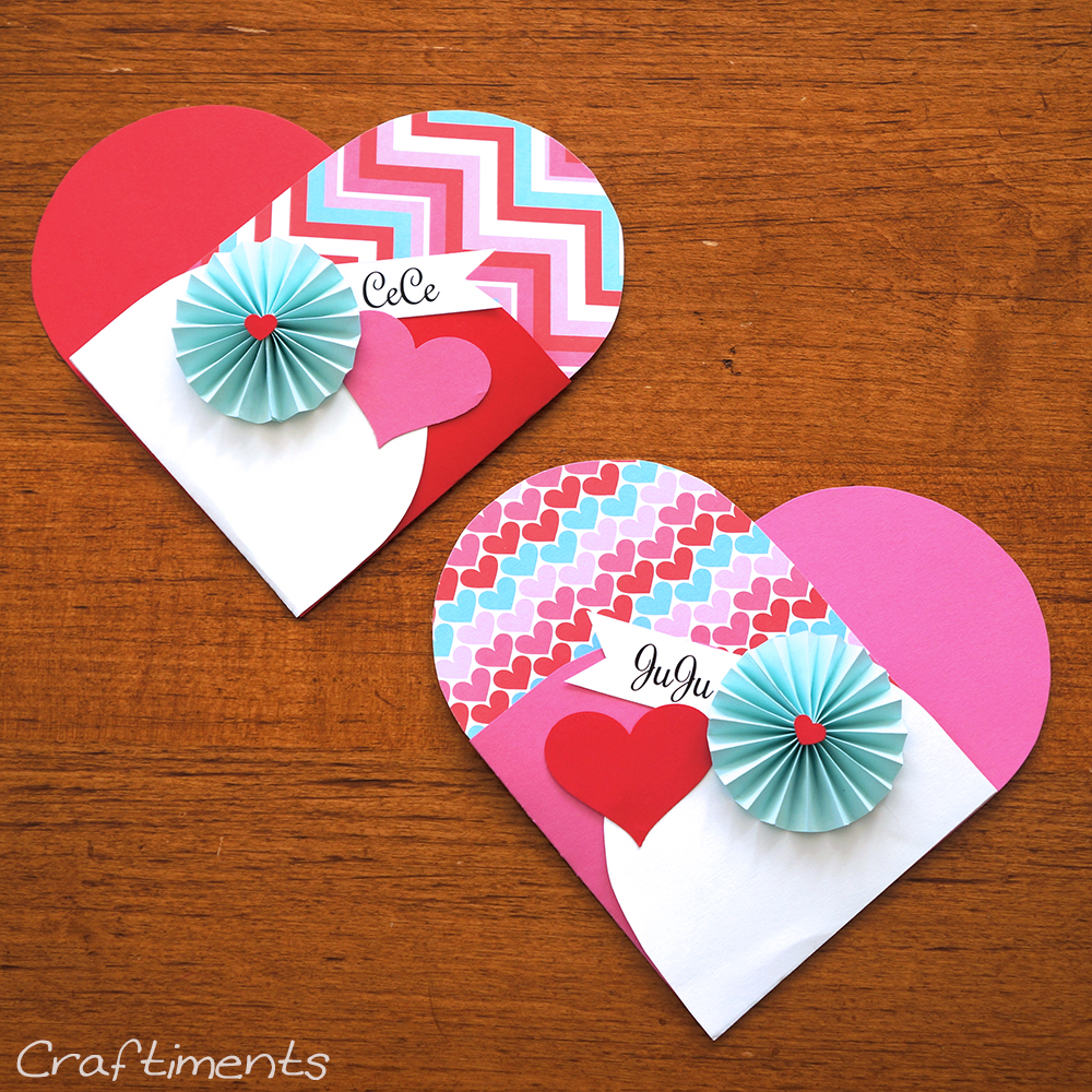 decorated heart treat pockets