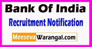 BOI Bank Of India Recruitment Notification 2017  Last Date 17-06-2017