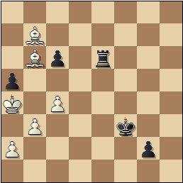 Partida de ajedrez Franco vs. Lladó, Campeonato de España de 1956, posición después de 61.Ra4??