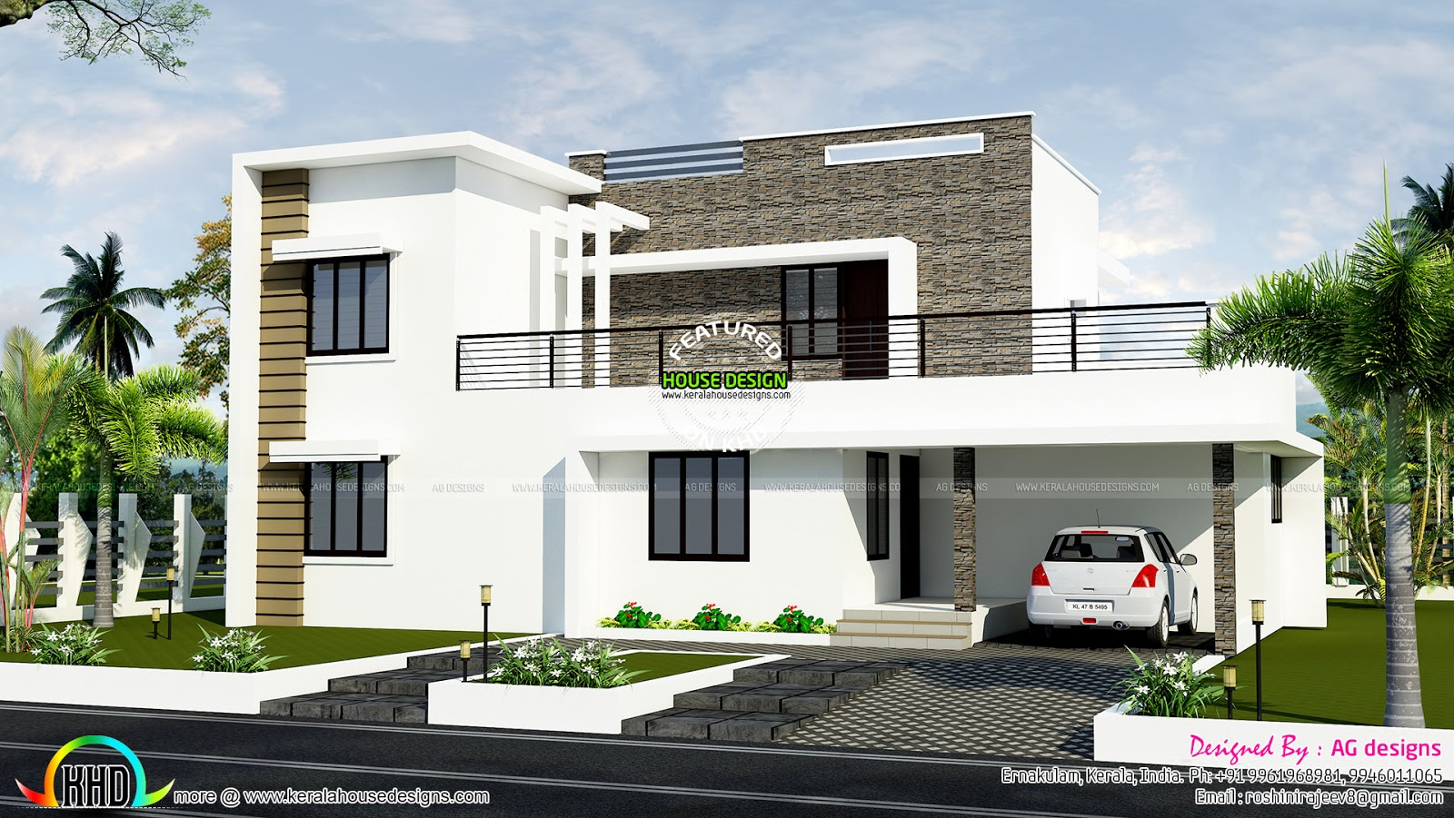January 2016 kerala home design and floor plans for Contemporary style home plans