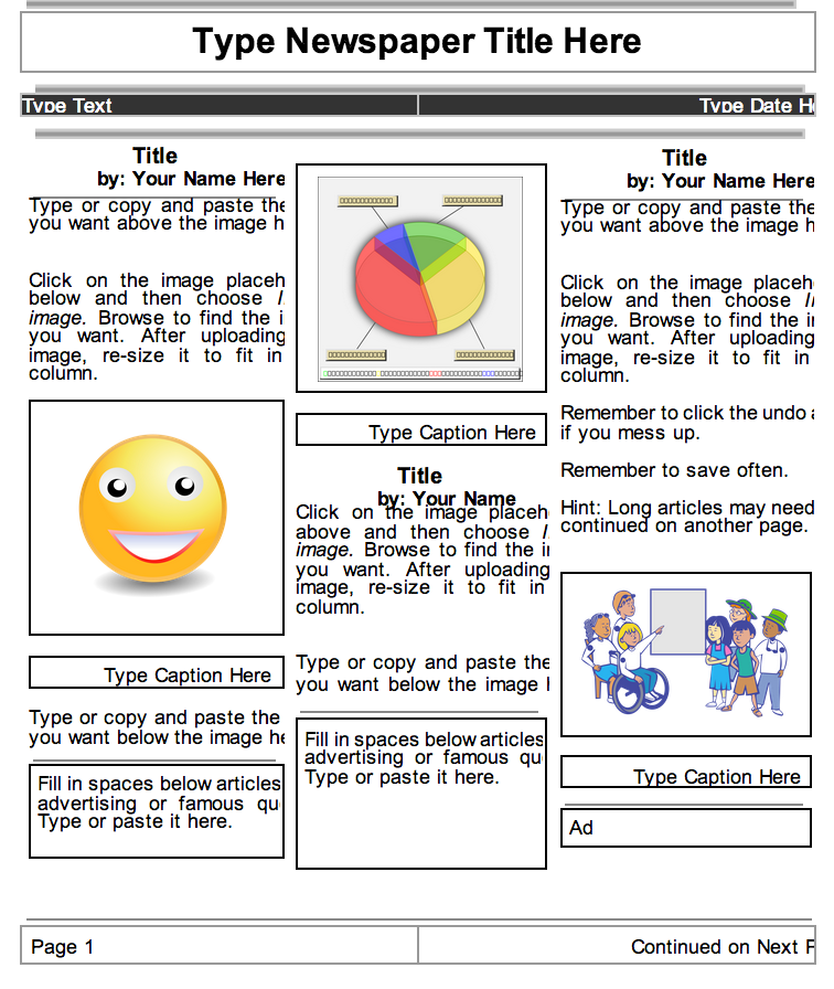 google drive newspaper template - 2 beautiful templates to create classroom newspapers using