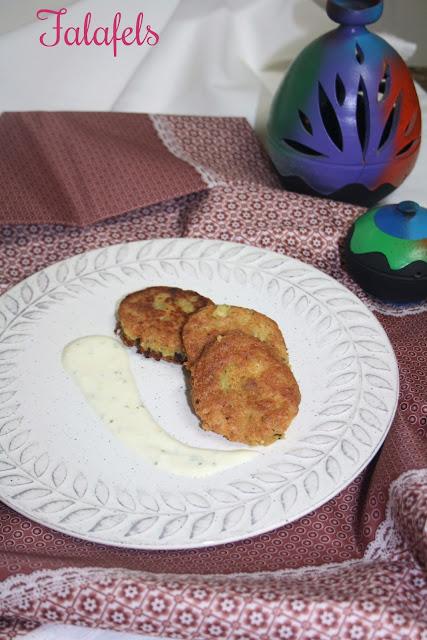 Falafels,salsa de yogur