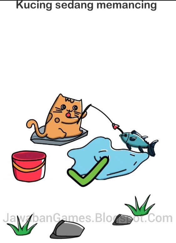 Kunci Jawaban Kucing Sedang Memancing Brain Out Level 142