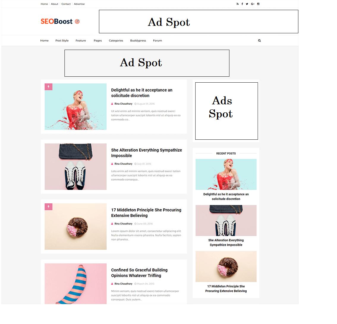 SEOBoost Blogger Theme Premium:Download Free - 2018 Templates - Free ...