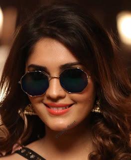 Tollywood Actress Surbhi Beautiful Earring Face Closeup Pictures (5)