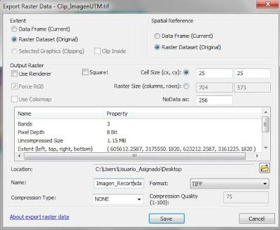 Extraer imagen de un raster ArcMap 5