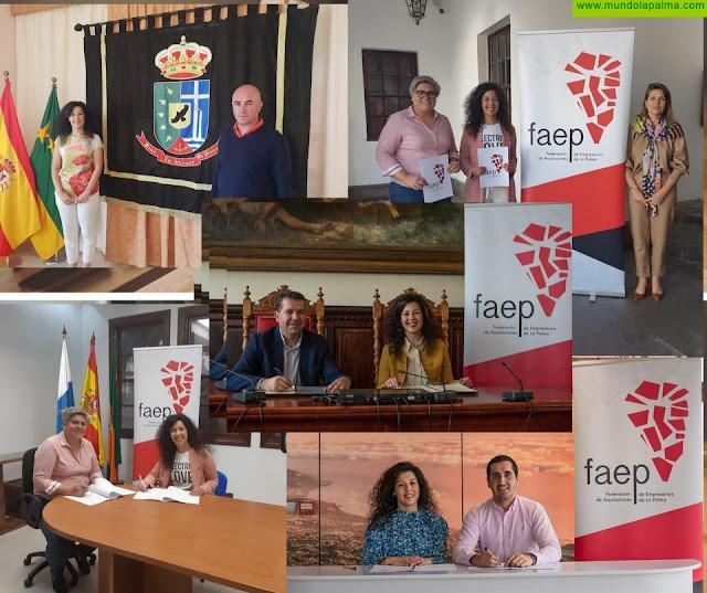 Cuatro ayuntamientos palmeros establecen una potente alianza de colaboración con FAEP para impulsar el tejido comercial