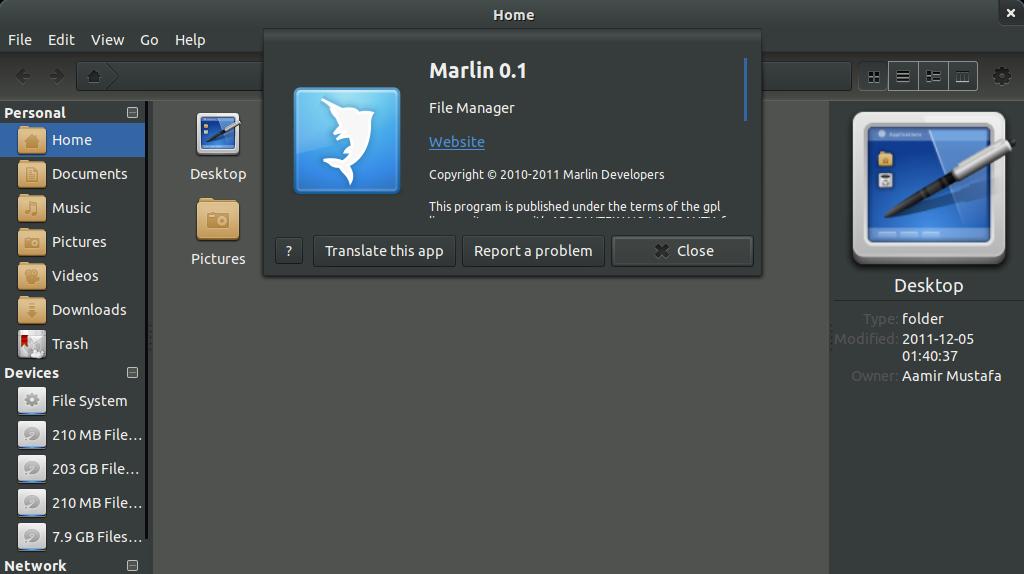Ubuntu Buzz !: Marlin File Browser
