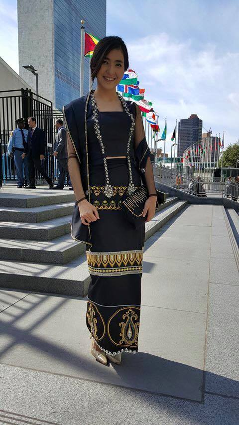 She's So Smart and Kind Women : Chit Thu Wai attends United Nations Global Citizens Festivals 2015 in New York , United States
