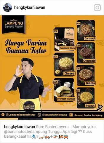Harga Banana Foster Lampung