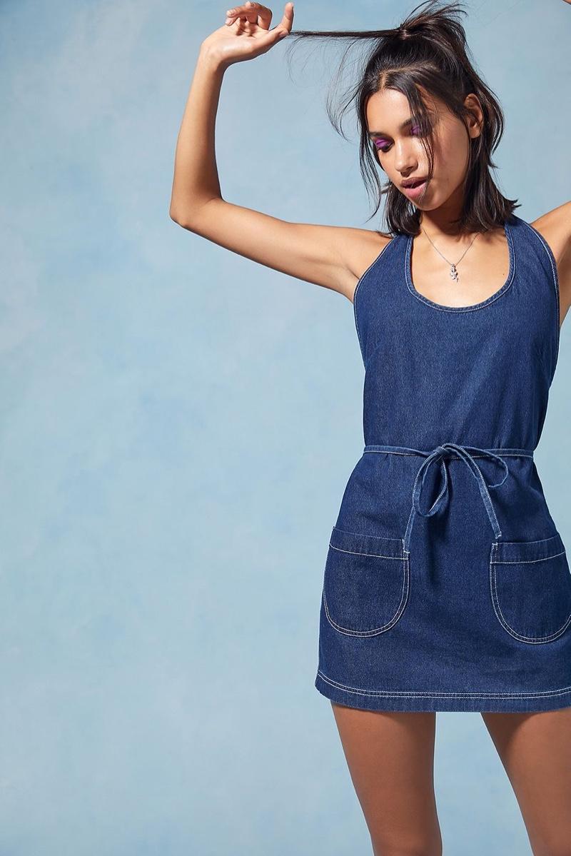 Anna Sui x Urban Outfitters Denim Wrap Dress