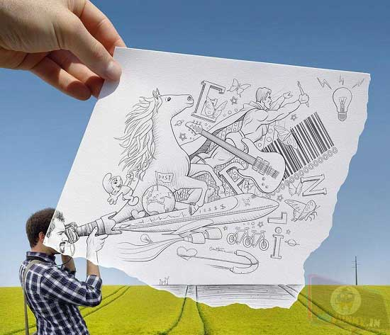 Photo of the amazing Pencil vs Camera project of Ben Heine