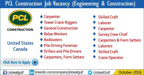 PCL Construction Job Vacancy - Jobzatgulf com
