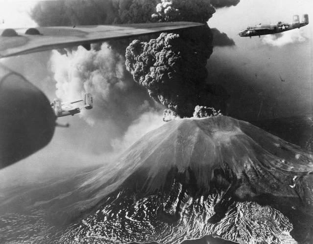 erupción del Vesubio