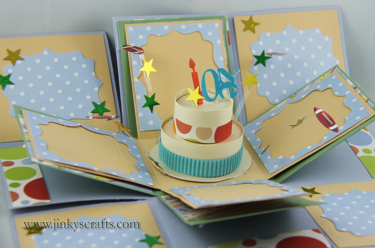 Jinky S Crafts Amp Designs 1st Birthday Exploding Box Album