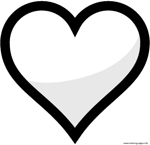 Heart Emoji Coloring Pages Free Printable