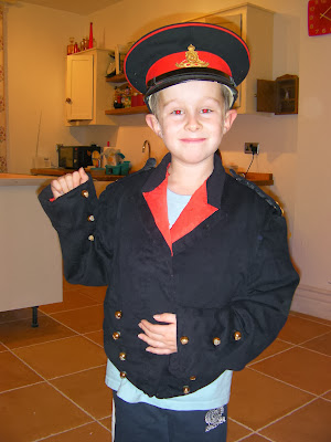royal artillery antique officers dress uniform and hat fancy dress for lucky school boy pudsey bear children in need day