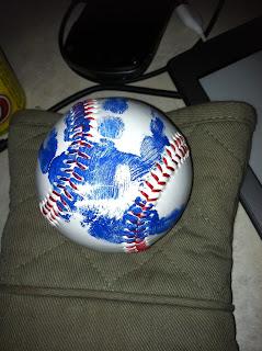 baseball handprints