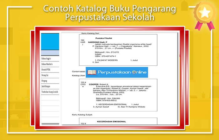 Contoh Katalog Perpustakaan Sekolah