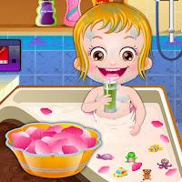 العاب بيبي هازل يوم الغسيل فى حمام ملكى