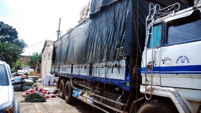 Đắk Lắk: Bắt giữ xe tải vận chuyển hàng trái phép
