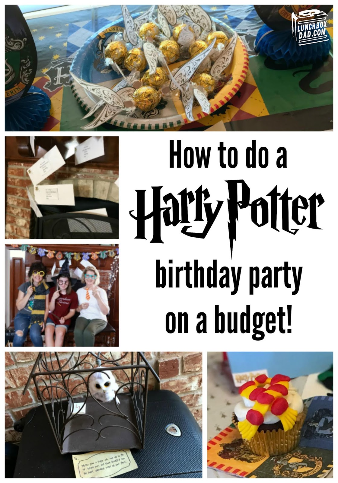 Lunchbox Dad Harry Potter Birthday Party Ideas On A Budget