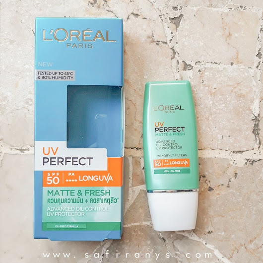 [REVIEW] L'Oreal UV Perfect Matte & Fresh Sunscreen