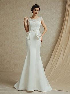 vestido noiva retro vintage longo anos 30 50 lindo simples babado