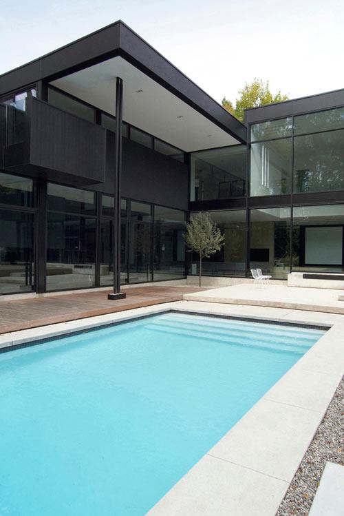 hogares frescos moderna residencia en blanco y negro por