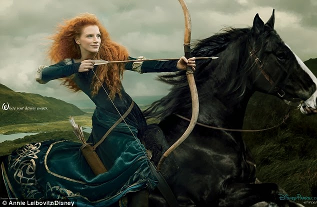 Jessica Chastain Disney Princess Merida Brave filmprincesses.filminspector.com