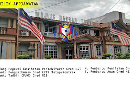 Iklan Jawatan Kosong di Majlis Daerah Tapah.