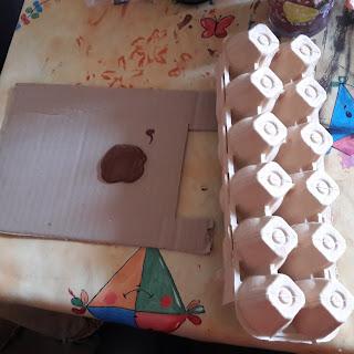 comment fabriquer un traineau du pere noel avec récup' boite à oeufs